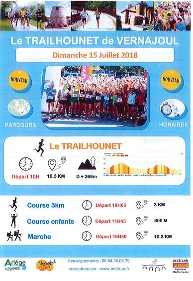 Le Trailhounet de Vernajoul 2018