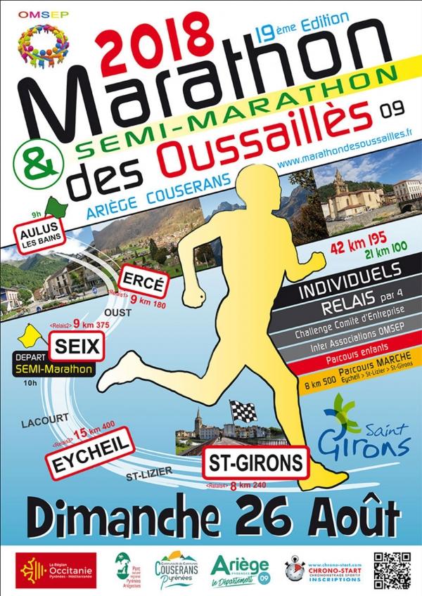 Marathon semi et relais des Oussaillès